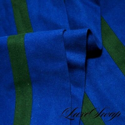 TRADITIONAL The Andover Shop English Cobalt Blue Emerald Ruby Stripe Rugby Scarf