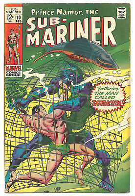The Sub-Mariner # 10 Marvel Comics 1969 1st appearance Karthon the Quester