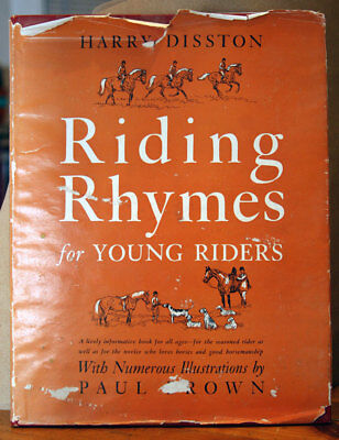 RIDING RHYMES for Young Riders by Harry Disston 1951 HC/DJ Equestrian Horseback