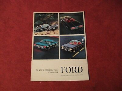 1964 Ford booklet Dealership Brochure Old Original Book Catalog FOMOCO Vintage