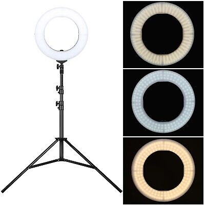 "US 14"" LED Ring Light Selfie Stand Photo Photography For Phone Camera Vlog Video"