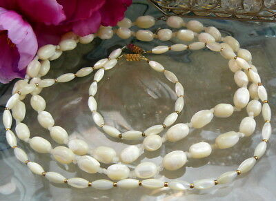 Beautiful Vintage Mop Mother Of Pearl Bead Necklaces Bracelet Jewelry  Lot Nice!