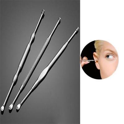 3Pcs Stainless Steel Ear Pick Wax Remover Cleaner Curette Care Cleaning Tool LG