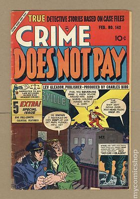 Crime Does Not Pay #142 1955 GD 2.0