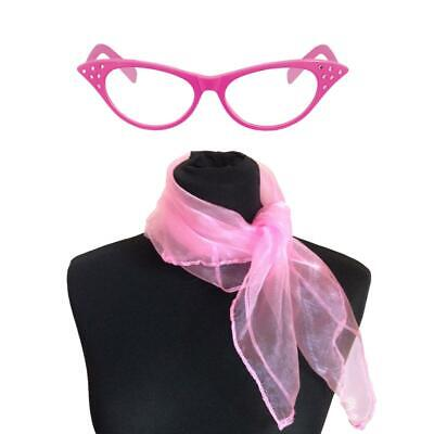 Pink Glasses  50's Fancy Dress Hen Nights Party 1950's ladies