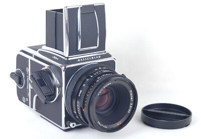 Hasselblad 503CW+CF 80mm f/2.8 T* A12 Back Silver Body with Split-image Screen