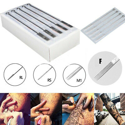 10 20 50 500PCS Professional Sterile Tattoo Needles High Precision F RL RS M1 RM