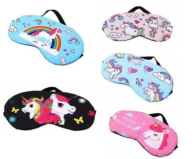 Unicorn Soft Eye Mask Cotton Eyemask Blindfold Travel Relax Sleep Mask Birthday