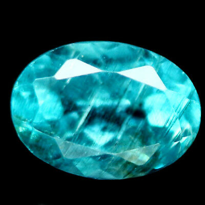 0.96 Ct Natural! Neon Blue Madagascar Apatite Oval