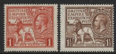 1925 Wembley Set Of Two Unmounted Mint. Sg 432-3