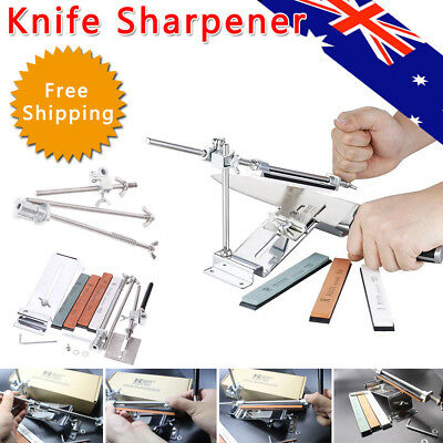 Edge Pro Fix-Angle Knife Sharpener Stainless Steel Sharpening System 4 Stone Kit