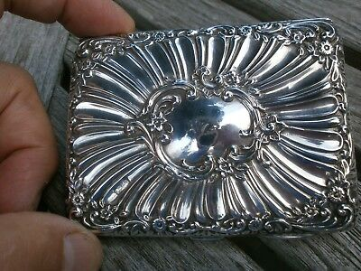 Antique Henry Mathews Sterling Silver Purse Type Card Case Birmingham 1896