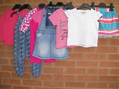 NEXT Mini Club H&M etc Girls Bundle Dress Skirts Shorts T-Shirt Age 9-12m