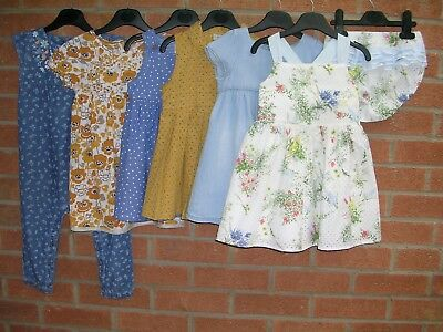 NEXT TU H&M etc Girls Yellow Summer Bundle Dresses Playsuit Dress Age 18-24m