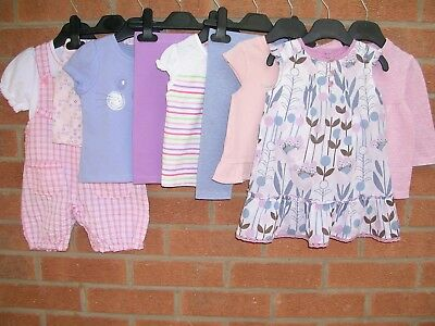 MONSOON TU M&S etc Girls Summer Bundle Outfits Dress Shorts Cardigan Age 3-6m