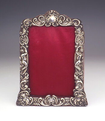 Antique William James Holmes - Cupid Decorated Silver Frame - Lovely!