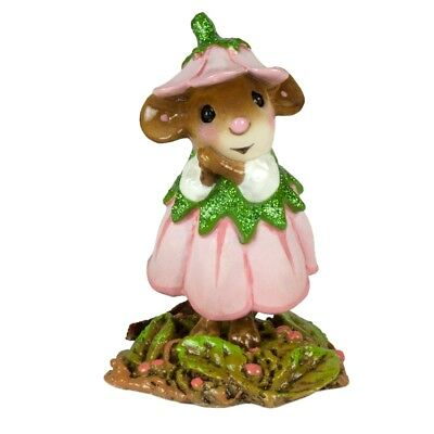 Wee Forest Folk - April Flower Mouse Of The Month M-640d