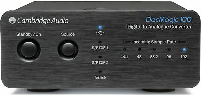 CAMBRIDGE AUDIO DacMagic 100 DAC / D/A Wandler (24 Bit/192 kHz) schwarz