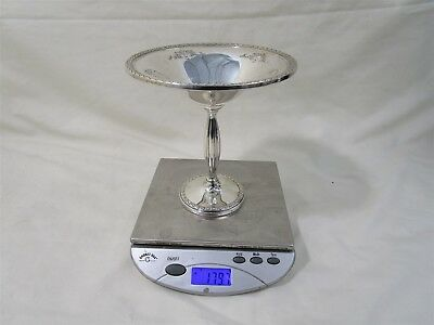 """6"""" M Frederick Hirsch Sterling Silver Footed Bonbon Dish Weighted. 179.7g"""