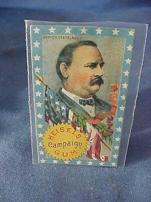 Orig 1888 US PRESIDENTIAL Heisels CAMPAIGN GUM CARD for GROVER CLEVELAND