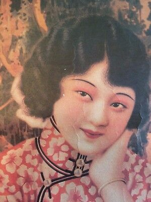 Vintage ORIENTAL ART PRINT - Asian Chinese Girl Soap Advertisement Poster 20X30