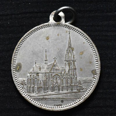1892 Germany, Nurnberg, Steinbuhl Christchurch, Silvered Brass Medal By Lauer