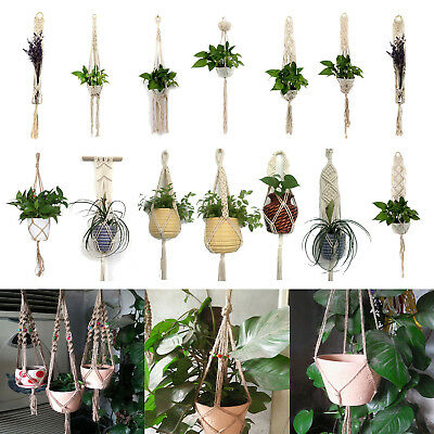 Macrame Plant Hanger Rope Flowerpot Holder Gardenpot Lifting Home Garden Decor