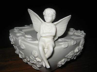 Partylite; Candle Holder~ Angel/fairy~ 3 Wick~Off White ~Bisque New W/out Box