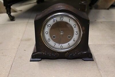 Antique Wooden Mantel Clock (In Need Of Repair)