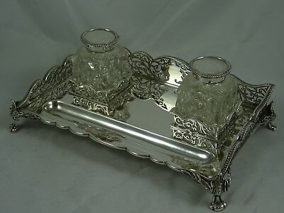 MAGNIFICENT, EDWARDIAN silver INK STAND, 1904, 1064gm