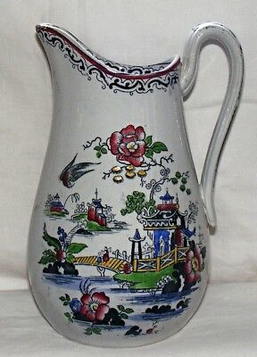 Llanelly/Cambrian - Victorian Jug circa 1870s Hand Painted