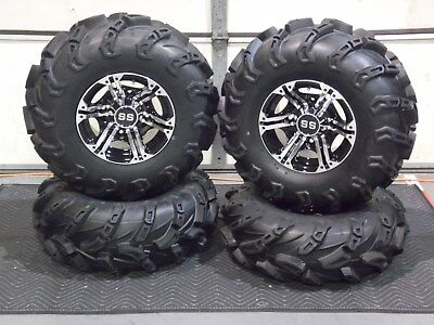 "Polaris Ranger Xp1000 27"" Wild Thang Atv Tire & Viper Wheel Kit Pol10K"
