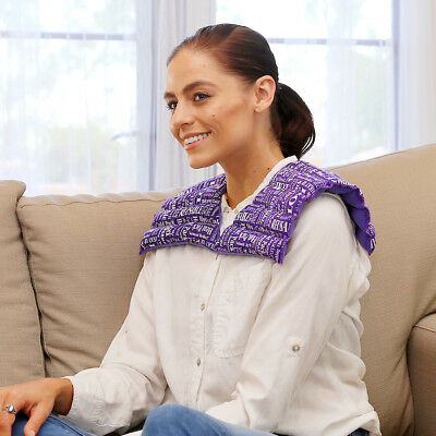 Shoulder & Neck Warmer Hot & Cold Aromatherapy Pack by HTP Relief(Purple)