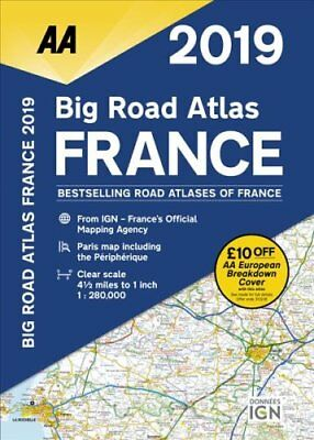 AA Big Road Atlas France 2019 by AA Publishing 9780749579630 (Paperback, 2018)