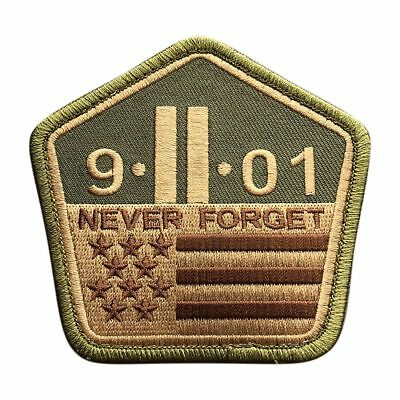 9/11 Never Forget Patch Twin Towers 3.5 INCH Morale Hook patch By Miltacusa (M9)