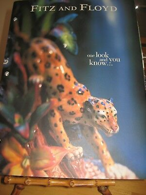 Fitz and Floyd Catalog Book 2001 Heavy Weight Paper, Glossy Finish, Lovely!