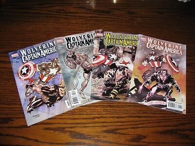 Marvel - WOLVERINE/CAPTAIN AMERICA 1 - 4 Complete Set!! Glossy VF 2004