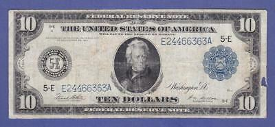 """$10 1914 LARGE BLUE SEAL """"BETTER RICHMOND"""" Federal Reserve Note!          x5a"""