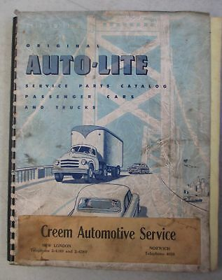 Vintage 1951 Edition Original Auto-Lite Service Parts Catalog 75