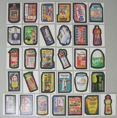 Lot Of 88 Topps 1986 Wacky Packages Album Stickers