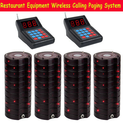 Restaurant Church Fast Wireless Calling Paging System 2*Keypad+40*Coaster Pagers