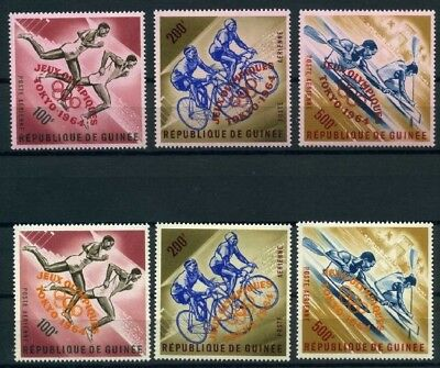 Guinea MiNr. 239-41 a +b postfrisch/ MNH Olympiade 1964 (Oly489