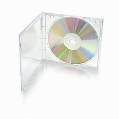 200 STANDARD Clear CD Jewel Case (Unassembled)