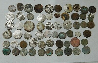 LOT OLD Prussia LIthuania Poland Livonia  60 coins