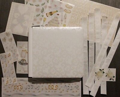 "Creative Memories 7""x7"" Promise Album with pages and bonus Wedding stickers -new"