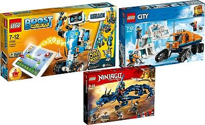 LEGO BOOST 17101 + City Arktis 60194 Erkundungstruck + Ninjago 70652 Blitzdrache