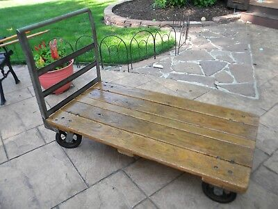 Vintage Industrial Factory Warehouse Cart