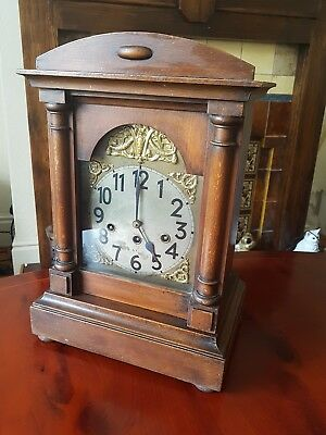 LARGE GERMAN BRACKET CLOCK JUNGHANS c1910 WESTMINSTER CHIMES