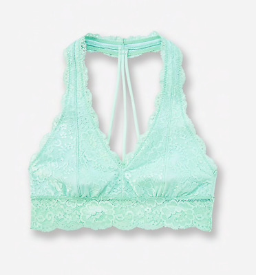 c002cca80cf Justice Girl s Lace T-Back Bralette in Mint Green Size 38 New with Tags