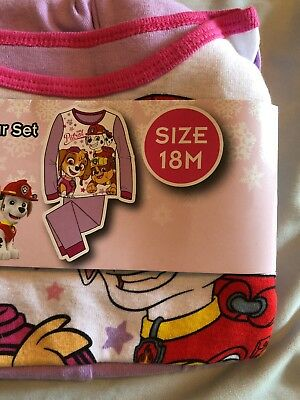 NWT Nickleodeon Brand Paw Patrol Girls 2pc Sleepwear Sz 18mo